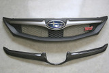 CS979GRFC - Charge Speed 2008-2010 Subaru All WRX STi GR-B Hatchback Carbon Front Grill Finisher for OEM Grill