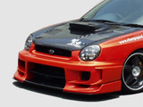 CS978FBS - Charge Speed 2002-2003 Subaru Impreza GD-A Zenki/ Round Eye Model Type-2 Front Bumper With Straight Carbon Center Flap