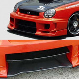 CS978FBD - Charge Speed 2002-2003 Subaru Impreza GD-A Zenki/ Round Eye Model Type-2 Front Bumper With 3D Carbon Center Flap