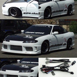 CS7072FK3 - Charge Speed 1989-1994 Nissan 240SX S-13 HB Conversion to S-15 Wide Body Complete Kit With OEM Carbon Hood