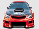 CS975FBD - Charge Speed 2006-2007 Subaru Impreza GD-F HawkEye Type-2 Front Bumper With 3-D Carbon Center