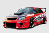 CS975FKD - Charge Speed 2006-2007 Subaru Impreza GD-F HawkEye Type-2 Full Bumper Kit With 3-D Carbon Center