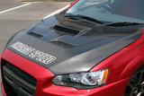 CS427HCV2 - Charge Speed 2008-2017 Mitsubishi Lancer/ Lancer EX/ Ralliart/ Sportback/ Evo X Type-2 Vented Carbon Hood