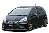Charge Speed 2009-2010 Honda Fit/ Jazz Zenki RS Model Only GE8/9 JDM FITMENT Carbon Complete Bottom Line Lip Kit
