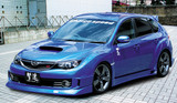 CS979FLK - Charge Speed 2008-2010 Subaru WRX STi GR-B 5-Doors Hatchback Half Type Full Spoiler Kit for STi