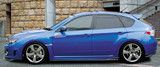 CS979FLK2F - Charge Speed 2008-2010 Subaru WRX STi GR-B Hatchback Bottom Lines Type 2 FRP Full Lip Kit for STi
