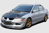 CS424FLKC - Charge Speed 2003-2005 Mitsubishi Lancer Evo VIII Bottom Line Carbon Full Lip Kit