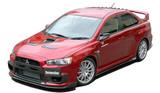 CS427FLK2C - Charge Speed 2008-2010 Mitsubishi Lancer Evo X Bottom Line Type 2 Carbon Full Lip Kit