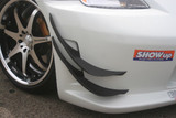 CS722CULCK - Charge Speed 2003-2008 Nissan 350Z Carbon Upper and Lower Canard Kit MADE ONLY FOR THE Charge Speed TYPE1 FRONT BUMPER
