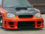 CS977FBD - Charge Speed 2004-2005 Subaru Impreza GD-B Peanut Eye Type-2 Front Bumper With 3-D Carbon Center