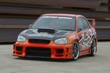CS975FKS - Charge Speed 2005 Subaru Impreza GD-B Peanut Eye Type-2 Full Bumper Kit With Straight Carbon Center