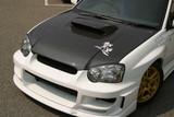 CS977HC - Charge Speed 2004-2005 Subaru Impreza WRX GD-B Middle Term OEM Carbon Hood