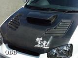 CS977HCV - Charge Speed 2004-2005 Subaru Impreza WRX GD-B Middle Term Vented Carbon Hood
