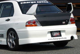CS424RS - Charge Speed 2002-2005 Mitsubishi Lancer Evo VII & VIII Rear Skirt-Fit JDM Only (Japanese FRP)- MUST USE JAPANESE BUMPER COVER
