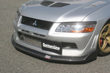 CS423FLC - Charge Speed 2002 Mitsubishi Lancer Evo VII Bottom Line Front Lip Carbon JDM FIT ONLY
