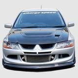 CS424FLC - Charge Speed 2003-2005 Mitsubishi Lancer Evo VIII Bottom Line Front Lip Carbon