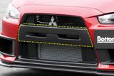 CS427BCGC - Charge Speed 2008-2017 Mitsubishi Lancer Evo X Front Bumper Center Garnish Carbon for Factory/ OEM Bumper