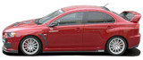 CS427SS2C - Charge Speed 2008-2010 Mitsubishi Lancer Evo X Bottom Line Type-2 Side Skirts Carbon