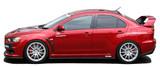 CS427SS1C - Charge Speed 2008-2010 Mitsubishi Lancer Evo X Bottom Line Type-1 Side Skirts Carbon