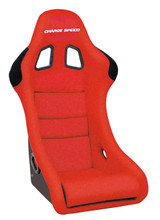 HC02 - Charge Speed Bucket Racing Seat Shark Type Carbon Red
