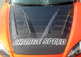 CS330HCV - Charge Speed 2000-2009 Honda S2000 AP-1/2 Vented Carbon Hood