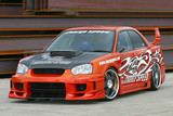 CS977FKSW - Charge Speed 2004-2005 Subaru Impreza GD-B Peanut Eye Wide Body Super GT Full Kit With Straight Front Center Flap