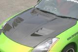 CS722HCV - Charge Speed 2003-2008 Nissan 350Z Vented Carbon Hood