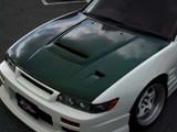 CS703HCV - Charge Speed 1989-1994 Nissan 240SX Silvia JDM Vented Hood Carbon