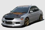 CS425FLKC - Charge Speed 2006-2007 Mitsubishi Lancer Evo IX Bottom Line Full Lip Kit