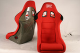 HK02O - Charge Speed Bucket Racing Seat Original Design Logo Shark Type Kevlar Red