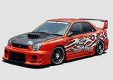 CS978FKDW - Charge Speed 2002-2003 Subaru Impreza GD-A Round Eye Type-2 Super GT Wide Body Full Kit With 3D Center