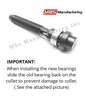 Compatible for Harley Davidson Twin Cam Dyna Inner Cam Bearing Tool Installer Puller TC88