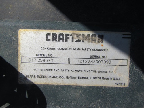 Sears Craftsman 917.259573-007093