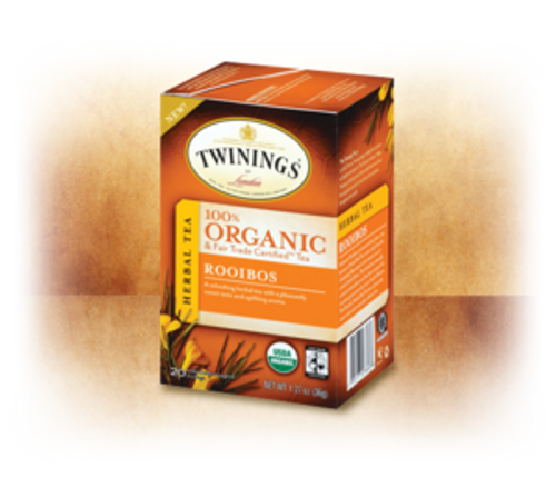 Rooibos 100% Organic & Fair Trade Certified Tea Twinings