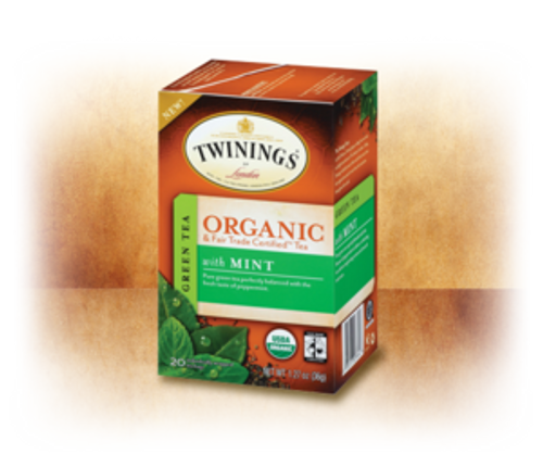Pure Green with Mint 100% Organic & Fair Trade Certified Tea Twinings