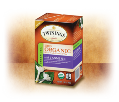 Pure Green with Jasmine 100% Organic & Fair Trade Certified Tea Twinings