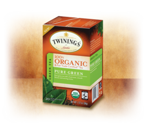 Pure Green 100% Organic & Fair Trade Certified Tea Twinings