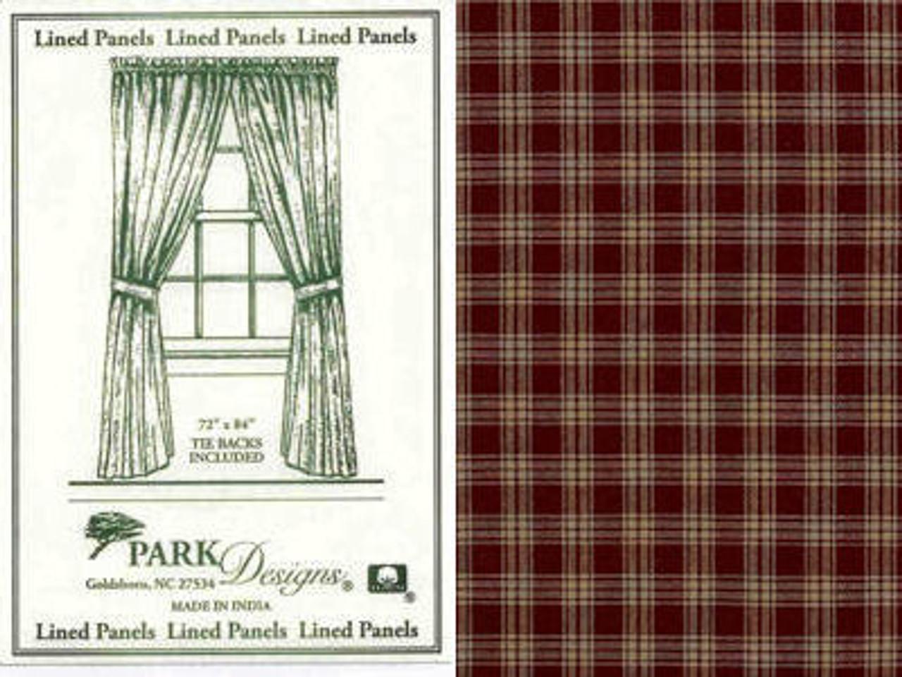 Black 84 Park Desisgns 315-431R 84 Park Designs Sturbridge Lined Panel