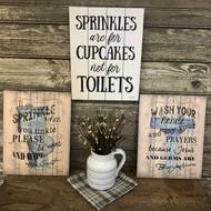 Bathroom Pallet Art