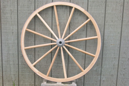 Heavy Ornamental Wooden Wagon Wheel
