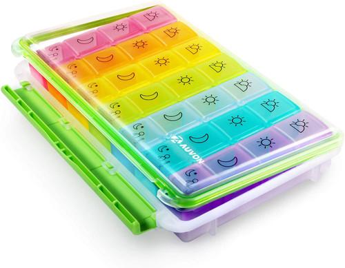 AUVON iMedassist Portable Moisture-Proof Design Pill Holder