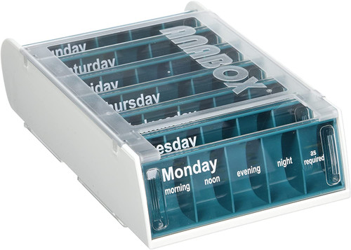 Anabox Weekly Pill Box With Sliding Lids