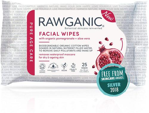 RAWGANIC Anti-aging Facial Wipes 1 Packs 25 wipes in total