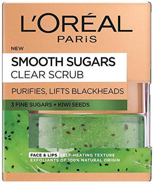 'Oréal Paris Smooth Sugar Clear Kiwi Scrub-50ml