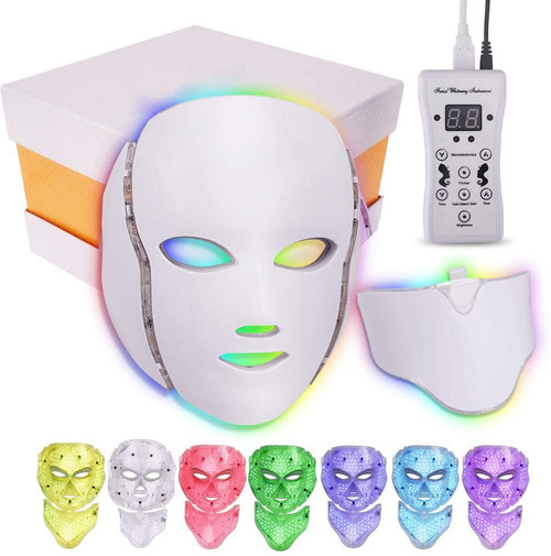 LED Face Mask 7 Color Facial Light Therapy Mask