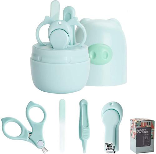 Cute Pig Case Baby Nail Care Kit - 4 Pcs