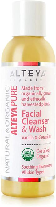 Alteya Organic Facial Cleanser & Wash Vanilla and Geranium-150ml