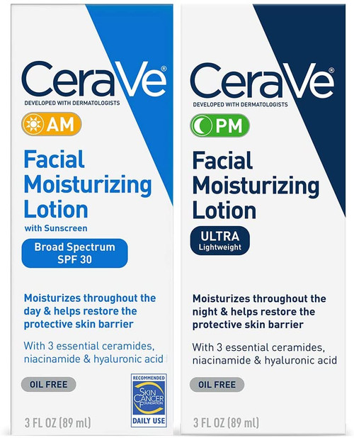 CeraVe Day & Night Face Lotion Skin Care Set
