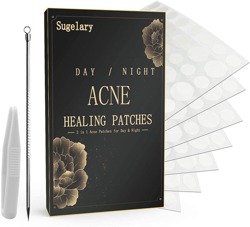 252 Pcs Acne Patches 2 in 1 Hydrocolloid Acne Patches
