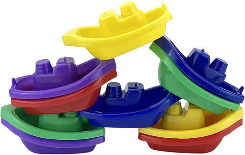 HOVUK Multiple Colours Beautiful Baby Boats Toy Set - 10 Pcs